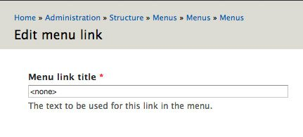 drupal 7 empty menu link titles