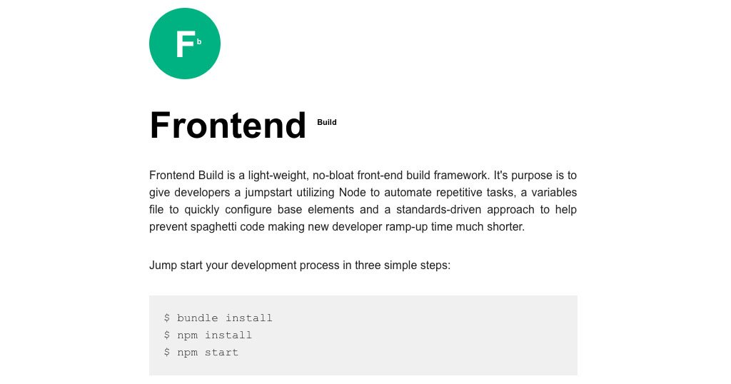 My Frontend Build Process